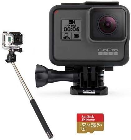 GoPro HERO6 Black CHDHX-601 + Max 79% OFF Max 69% OFF 32GB Card microSDHC C HDMI Micro
