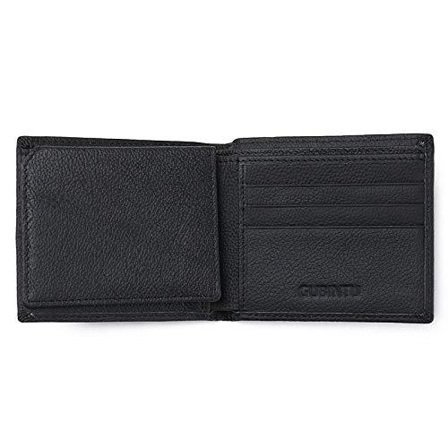 Scomparto di scansione per portafogli di sicurezza portafoglio anti-furto con schermatura elettromagnetica per portafoglio in pellenera