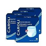 Caroli Protect + Care Pants (Large), ohne Duft, Vorteilspack (4 x 10 Stk.) für mittlere bis schwere Blasenschwäche