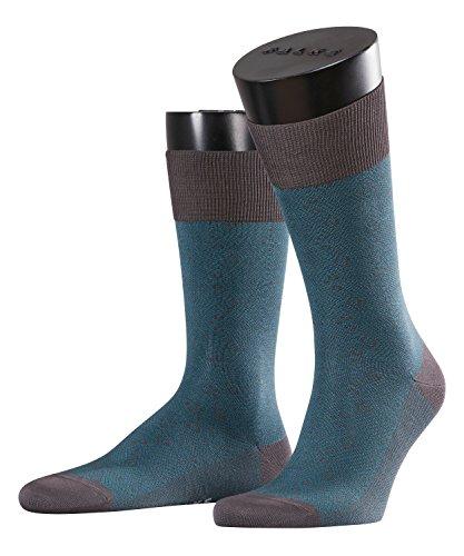 FALKE Herren Socken Boshimane Farbe: Grau/Petrol Gr. 45-46 Business-Socken = 1 Paar