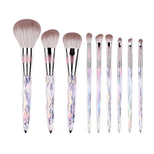 sans marque Pinceau De Maquillage Set 9 Sticks Fibre Douce Débutant Portable Poudre Libre Pinceau/Foundation Brush/Eye Shadow Brush/Nasal Shadow Brush/Blusher Brush