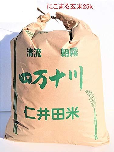 令和元年 高知県 四万十町産 仁井田米 にこまる 玄米25k