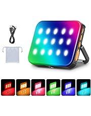 Neewer Outdoor Waterdichte RGB LED Camping Lantaarn Licht, Oplaadbaar 3000mAh Noodlicht Nachtlampje Dimbaar 3200K-6500K/Ingebouwde Magnetische Module voor Wandelen, Vissen, Backpacking, Thuis, Tent