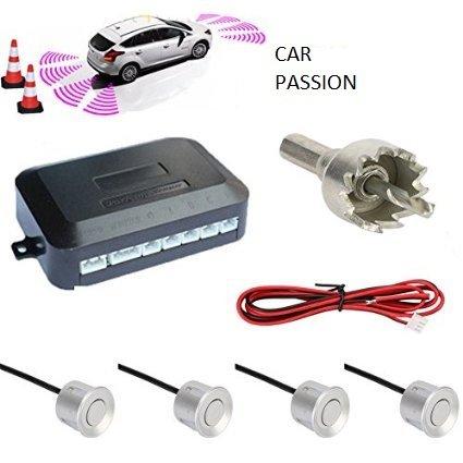 Kit 4Sensoren Einparkhilfe Auto Transporter Camper Silber Silver LACKIERFÄHIG manuell in Italienisch mit Buzzer akustisches