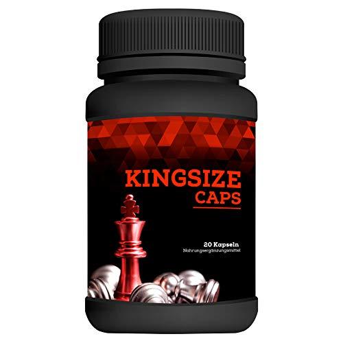 Kingsize Caps | Enlargement Effect | Penis Kapseln extrem Hochdosiert | 20 Kapseln | 1 Dose