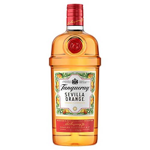 Tanqueray Flor De Sevilla Gin – Fruchtiger und mediterraner Gin mit bitter-süßem Orangenaroma – Ideale Spirituose für Cocktails oder Gin Tonic – 1 x 1l
