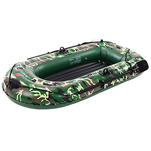 WBJLG Kayak Inflable, Juego de Bote de Canoa para Kayak de Turismo para 3 Personas, Bote de Pesca de PVC con remos y Chaleco Salvavidas, para Deportes acuáticos