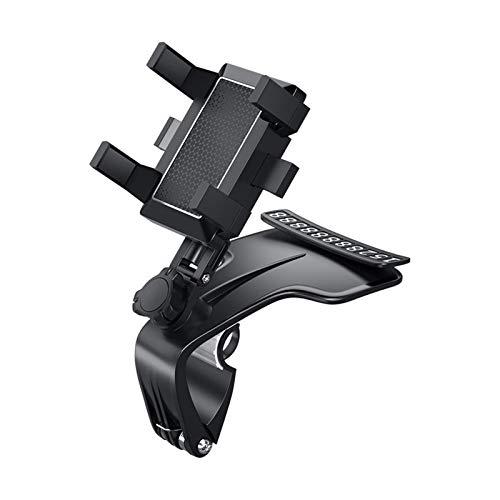 Soporte universal para teléfono de coche, soporte de teléfono ajustable con un botón de liberación y rotación de 360 grados para la mayoría de teléfonos móviles en el mercado