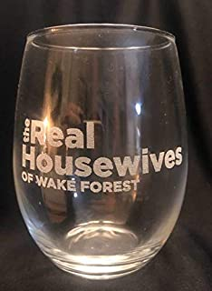 THE REAL HOUSEWIVES of Your TOWN CUSTOM Personalized Stemless Wine Glass Engraved 21 oz Girlfriend Neighbor Hostess Gift