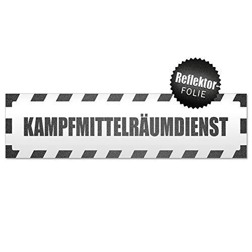Kiwistar Kampfmittelräumdienst gestreift Magnetschild Schild magnetisch