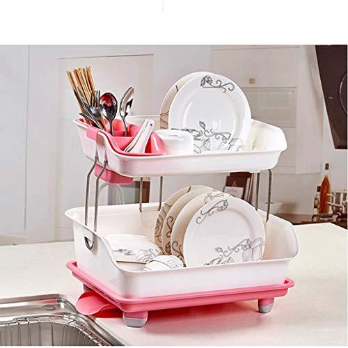 Haushalt Küche Lagerregal Essstäbchen Löffel Lagerung große Kapazität Multifunktionsablauf Rack grün/pink/blau YGDH (Color : B)