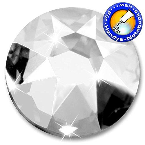 Swarovski 200 Stück Kristalle 2088 XIRIUS - KEIN Hotfix, Farbe Crystal, SS16 (Ø ca. 3,9 mm), zum Aufkleben - inkl. ShineStone Wender/Positionierer