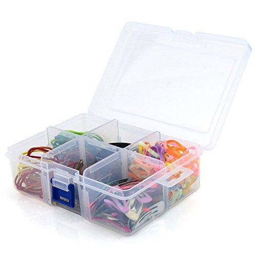 HANGERWORLD Praktische Kunststoff Aufbewahrungsbox zum Basteln