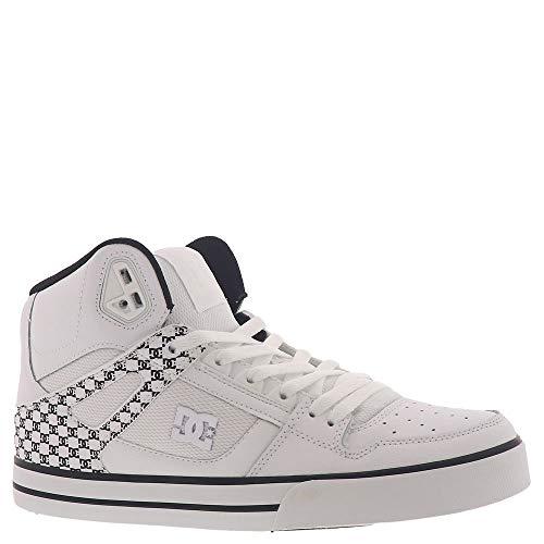 DC mens Pure High-top Wc Skate Shoe, White/Black Monogram, 11 US