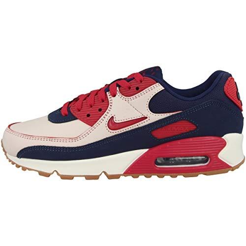 Nike Zapatillas para hombre Low Air Max 90 Premium, color Multicolor, talla 40 EU