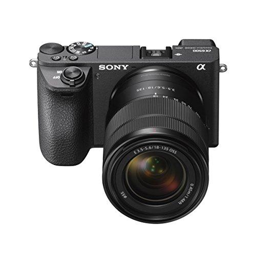 Sony Alpha 6500 APS-C E-Mount Systemkamera (24,2 Megapixel, 7,5 cm (3 Zoll) Touch Display, 5 Achsen-Bildstabilisierung, 425 Phasen AF-Punkte, XGA OLED Sucher, 4K) inkl. SEL-18135 Objektiv schwarz