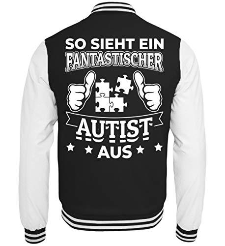 Chorchester Autismus – Fantastica Autist – Felpa College nero/bianco M