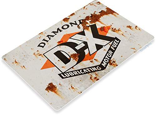 Tinworld Tin Sign Dx Motor Oil Retro Rustic Oil Gas Station Metal Sign Decor Garage Auto Shop Cave B715