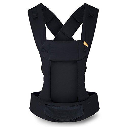 Porte-bébé Beco Gemini - Metro Black, simple et élégant, 5 en 1, style sac à dos, pour tenir les bébés, les nourrissons et les enfants de 3,5 à 16 kilos, certifié ergonomique