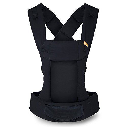 Beco Gemini Baby Carrier Metro Black - Multi-Position Soft Structured Sling w/ Adjustable Straps & Comfort Padding for Infant/Toddler Hip Support