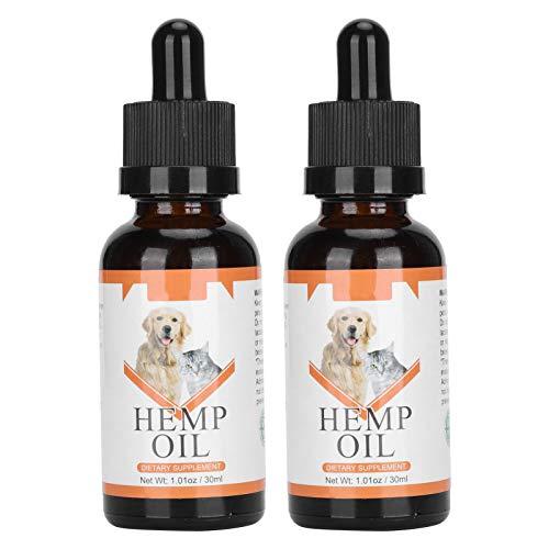 Hemp Oil Extract – Natural Hemp – Professional Pet Hemp Oil Anxiety Pain Stress Relief Dog Cat Essential Oil 30ml x 2pcs
