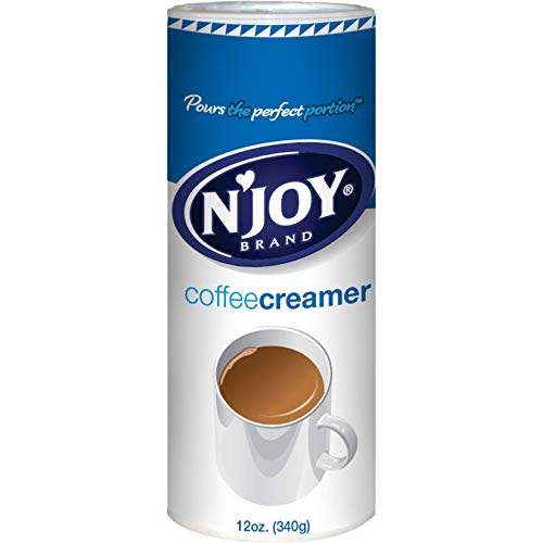 N'Joy Coffee Creamer, 12 Ounce (Pack of 6) - Non-Dairy, Easy Pour Lid