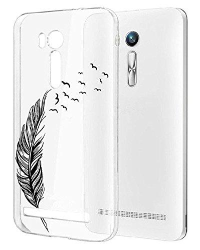 Sunrive per ASUS Zenfone Go ZB551KL 5,5 Pollici, Custodia Cover Case in Molle Trasparente Ultra Sottile TPU Silicone Morbida Flessibile Pelle AntiGraffio Protettiva(TPU Piuma 1)