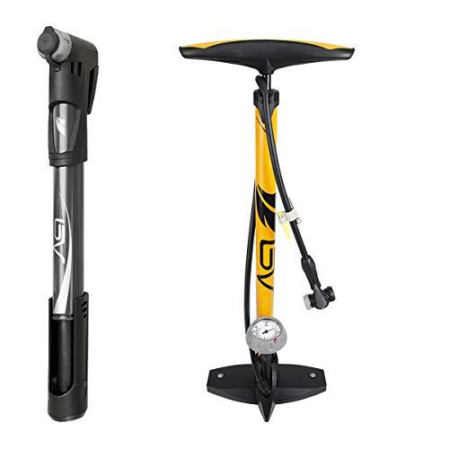 BV Bike Floor Pump and Portable Mini Pump