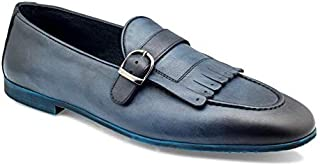 tresmode Men's Leather Textured Loafers