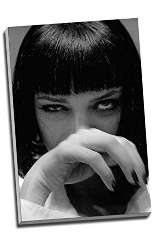 "Kunstdruck auf Leinwand, Motiv: Mia Wallace aus ""Pulp Fiction"", Wandkunst, großes A1-Format,76,2x 50,8cm"