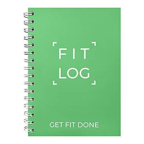 Cossac Fitness-Tagebuch und Trainingsplaner – entworfen von Experten, Fitness-Notebook, Workout-Tracker, Übungsbuch für Männer und Frauen, Grün