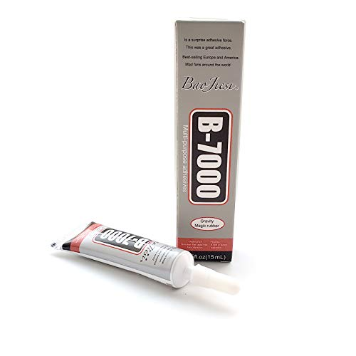 Baojiesi B-7000 15ML Multipurpose High Performance Industrial Glue Transparent Contact Adhesives Precision Tips for Clean Working (15ML / 0,51 oz)
