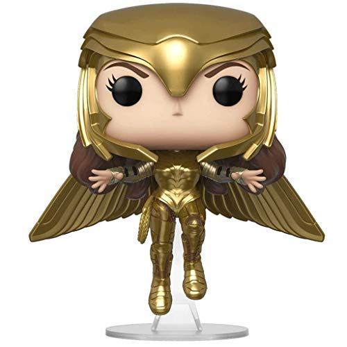MCC Studio Funko Pop Heroes : Wonder Woman 1984 - Wonder Woman Gold Flying (Metallic) #324 Figure Gift Vinyl 3.75inch for Heros Movie Fans Bobblehaed