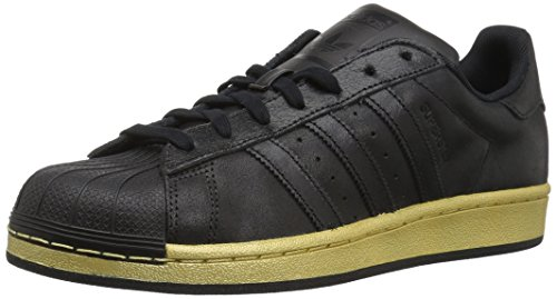 adidas Originals Herren Superstar Shoe, Core Black/Core Black/Gold Metallic, 39 EU