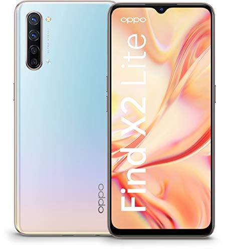 OPPO Find X2 Lite Smartphone (16,3 cm (6,4 Zoll)) 128 GB interner Speicher, 8 GB RAM, 4260mAh mit 30W Blitzladen, 48MP Zoom Ultra-Steady-Quad-Kamera, inkl. Schutzcover - Pearl White