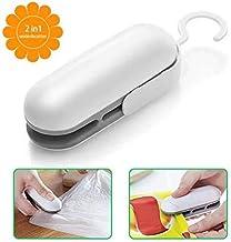 Mini Bag Sealer, Handheld Heat Vacuum Sealers, Bag Sealer Heat Seal, 2 in 1 Heat Sealer and Cutter Handheld Portable Bag Resealer Sealer for Bags Sealer