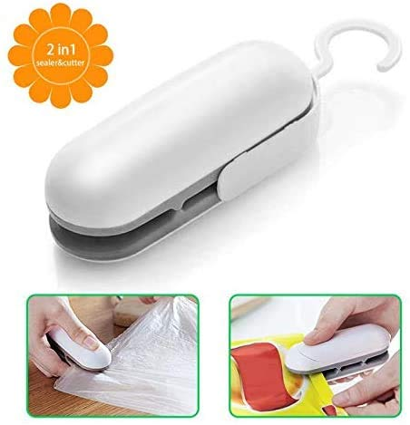 Mini Bag Sealer, Handheld Heat Vacuum Sealers, Bag Sealer Heat Seal, 2 in 1 Heat Sealer and Cutter...