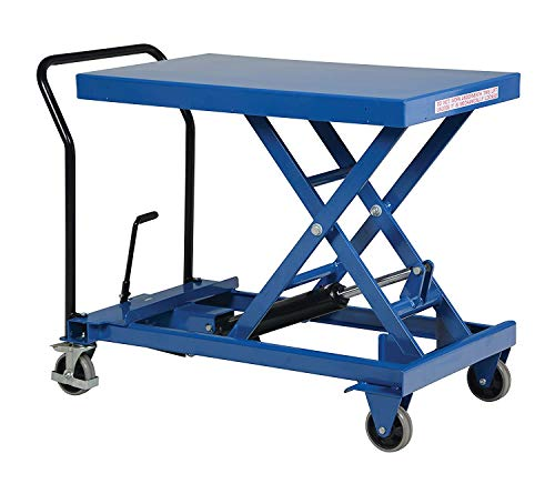 "Pake Handling Tools Scissor Lift Table – Functional Lightweight Work Bench Table – 660 lbs Capacity 33"" X 19.6"" Platform Size"