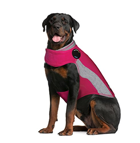 ThunderShirt Polo Dog Anxiety Jacket   Vet Recommended Calming Solution Vest for Fireworks, Thunder, Travel, & Separation   Pink, X-Large, HPXXLT01