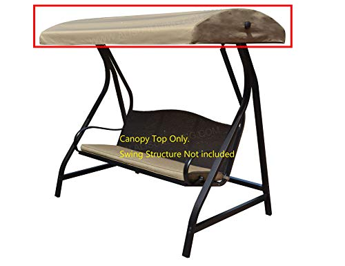 ALISUN Replacement Canopy Top for Lowe's Garden Treasures Porch Swing Model #GCS00229C (Will Not Fit Any Other Swing)