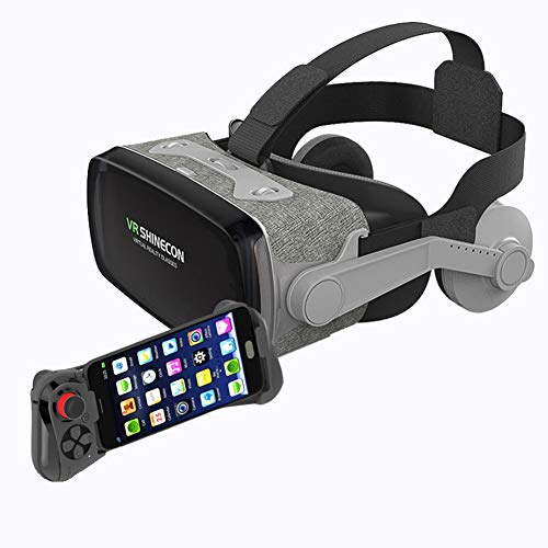 Great Price! RZJ-Home appliance 3D Virtual Reality VR Glasses with Comfortable Headphones and Handle...