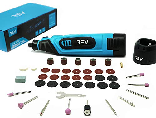 Cordless Rotary Tool Kit Variable Speed 12V Li-Ion Battery Powered with 40 piece Accessory 5,000-25,000 rpm