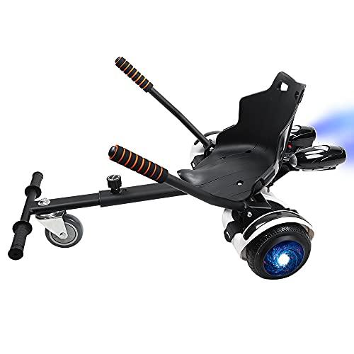 YOLEO Asiento para Hoverboard con Pulverizador, Silla de Hoverboard, overkart Go-Kart, Compatible con Overboard 6,5, 8 y 10 Pulgadas