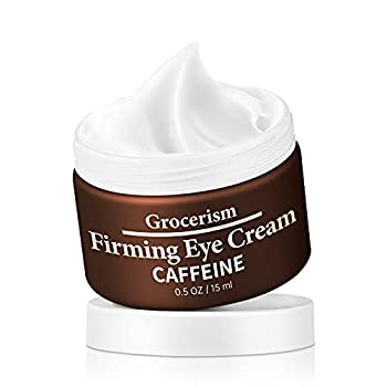 Grocerism Firming Mens Eye Cream for Dark Circles Puffy Eyes Under Eye Bags and Fine Lines with Acetyl Hexapeptide-8 and Caffeine Fragrance-Free 0.5 oz