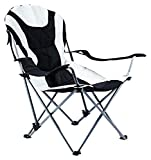 Ming's Mark 36028 Foldable Reclining Camp Chair - Black / Gray