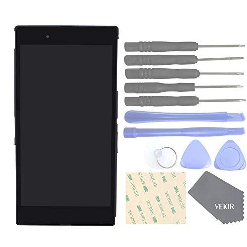 VEKIR Touch Digitizer Schermo LCD Schermo Schermo del Pannello di Vetro con Sostituzione del Telaio dell'alloggiamento dello Schermo Compatibile con Sony Xperia Z Ultra C6802 C6806 C6833(Black)