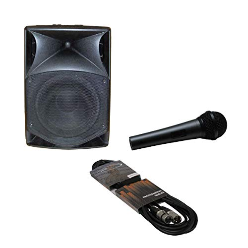 Kit de karaoke: Difusor biamplificato, Cable de Micrófono de 3MT y...