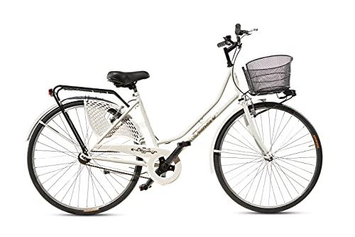 bicicletta donna con cestino Bicicletta Donna da Passeggio Olanda Misura 26 Bici da città Vintage retrò con Cestino Bianca
