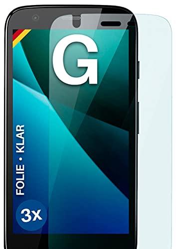 moex Klare Schutzfolie kompatibel mit Motorola Moto G - Bildschirmfolie kristallklar, HD Bildschirmschutz, dünne Kratzfeste Folie, 3X Stück