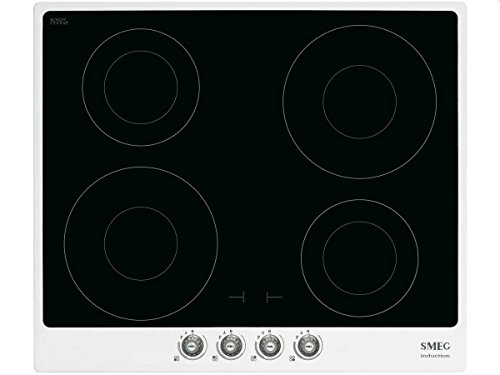 Smeg SI764BSM hobs Negro, Blanco Integrado Con - Placa (Negro, Blanco, Integrado, Con placa de inducción, 1400 W, 2300 W, 21 cm)